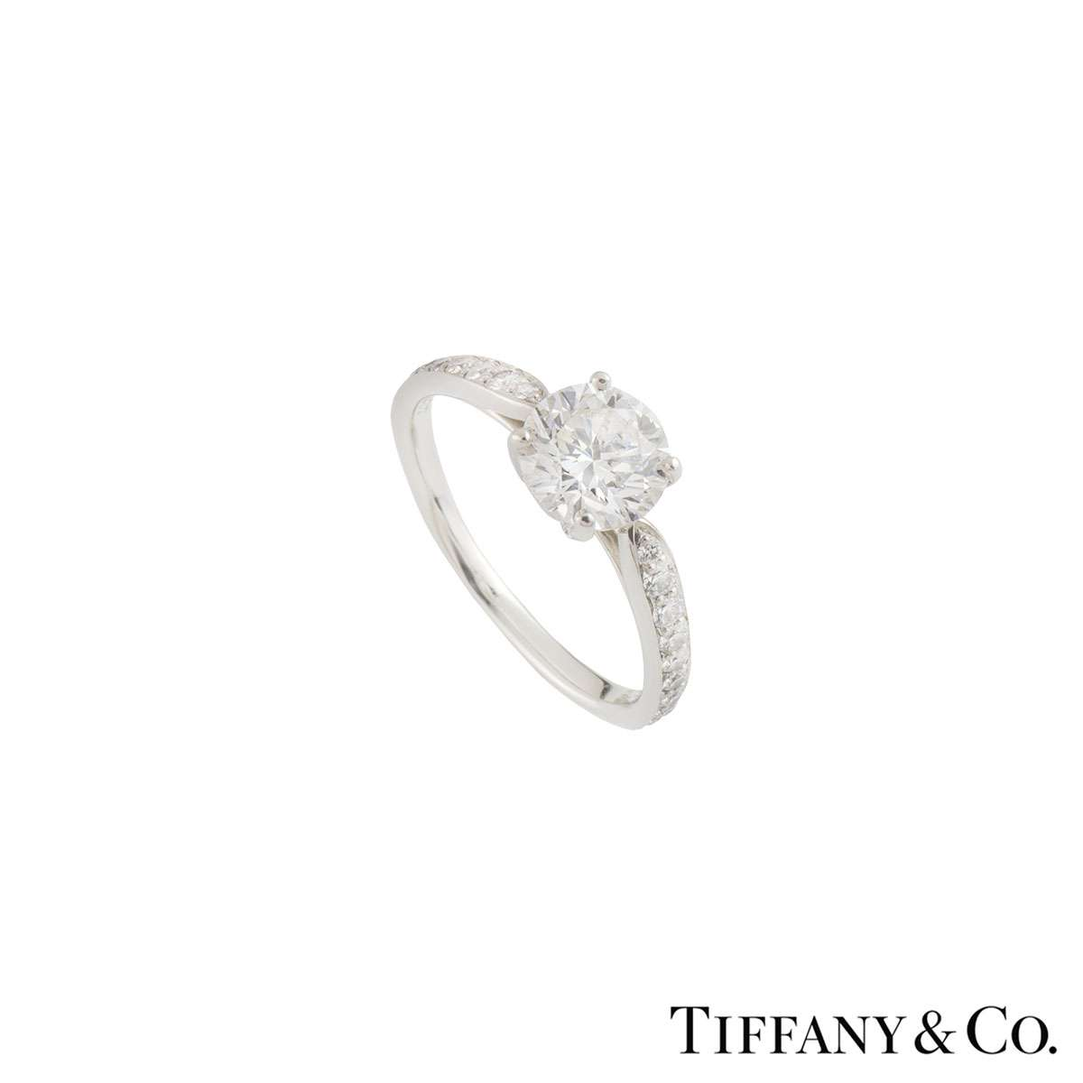 Tiffany & Co. Diamond Platinum Harmony Ring 1.05ct G/VS2 XXX
